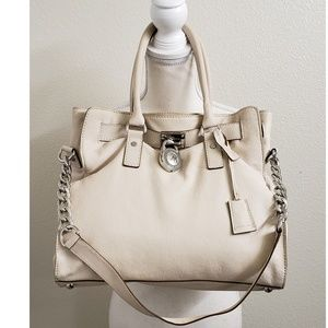 Michael Kors Cream Colored Leather Handbag